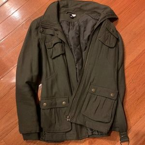 H&M size 4 green jacket with belt